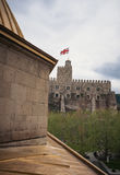 Jakeli Grodowy średniowieczny grodowy kompleks w Akhaltsikhe, Rabati kasztel, Gruzja Lomisa kasztel Zdjęcia Stock