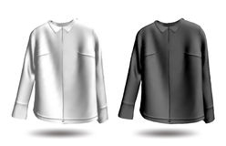 Jakets in bianco e nero. Vettore Immagini Stock Libere da Diritti