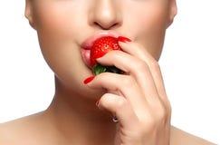 jakiś słodki Zdrowego usta Zjadliwa truskawka Obraz Stock