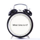 Jaki czas jest mną? Zdjęcia Stock