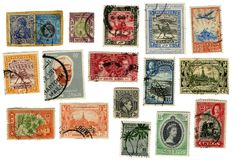 jakieś egzotyczne znaczków światowych Zdjęcie Royalty Free