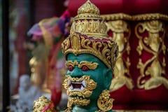 Jakkendemon in een Thaise tempel stock foto