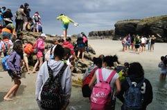 jako catedrais praia Spain Zdjęcia Stock