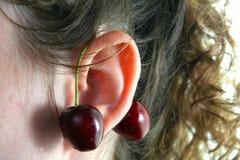 jako cherry kolczyk fotografia stock
