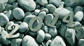 2014, jako nowy rok Zdjęcie Stock