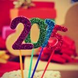 2015, jako nowy rok Zdjęcia Stock