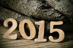2015, jako nowy rok Zdjęcie Stock