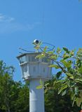 jako poprzedni gdr pomnika wieża obserwacyjna Zdjęcia Royalty Free