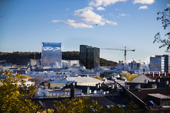 jako stolica najwięcej magistrackiego Norway Oslo ludnego widok well Obraz Royalty Free