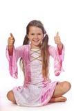 jako ubierająca czarodziejska dziewczyna Fotografia Royalty Free