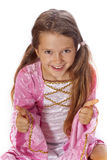 jako ubierająca czarodziejska dziewczyna Zdjęcia Royalty Free