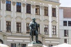 Jakob Fugger-monument in Augsburg Duitsland royalty-vrije stock foto's