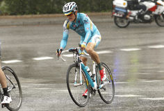 Jakob Fuglsang da pro equipe de Astana Foto de Stock
