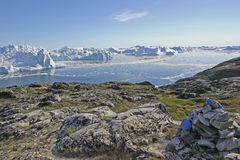 By Jakobshavn ice fjord. Royalty Free Stock Images