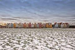 Jakriborg från snö täckt fält Arkivbilder