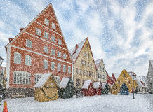 Jakriborg in Heavy Snow Stock Images