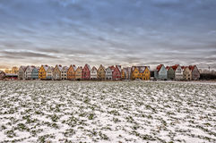 Jakriborg From Snow covered Field Stock Images
