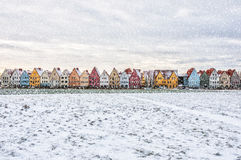 Jakriborg in Snowstorm Stock Photos