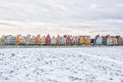 Jakriborg in Snowstorm Stock Photos