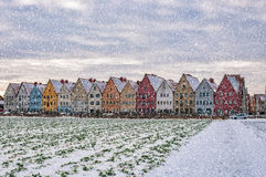 Jakriborg From Snowy Field Stock Images