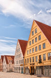 Jakriborg, Sweden 51. JAKRIBORG, SWEDEN - JUNE 24: Picture of street in Jakriborg, Sweden on June 24, 2014. Jakriborg is a new classical housing project built in royalty free stock photography