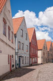 Jakriborg, Sweden 11. JAKRIBORG, SWEDEN - JUNE 24: Picture of street in Jakriborg, Sweden on June 24, 2014. Jakriborg is a new classical housing project built in Stock Image