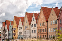 Jakriborg, Sweden 30. JAKRIBORG, SWEDEN - JUNE 24: Picture of street in Jakriborg, Sweden on June 24, 2014. Jakriborg is a new classical housing project built in Stock Images