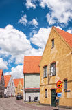 Jakriborg, Sweden 09. JAKRIBORG, SWEDEN - JUNE 24: Picture of street in Jakriborg, Sweden on June 24, 2014. Jakriborg is a new classical housing project built in stock photos