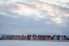 Jakriborg zimy linia horyzontu Obrazy Stock