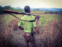 Jakt Afrika Arkivfoto