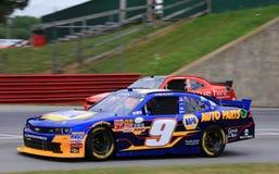 Jakt Elliott springer NASCAR-händelsen Fotografering för Bildbyråer
