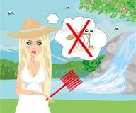 Jakt för myggor vektor illustrationer