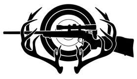 Jakt och illustration för skyttesportvektor Royaltyfri Fotografi