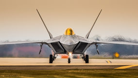 Jaktflygplan F22 Arkivbild