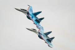 Jaktflygplan Su-27 Royaltyfri Bild