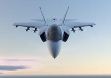 Jaktflygplannivå för stråle F-35 Arkivbilder