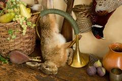Jakthorn och hare Royaltyfria Foton