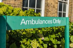 Jaktlantgårdsjukhus i Enfield london arkivfoto