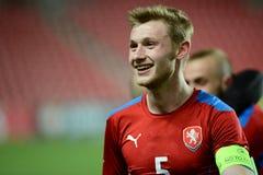 Jakub Brabec, capitain of Czech Republic U21 team. 03/31/2015 PRAGUE _ Friendly match Czech Reublic U21 - Portugal U21 Stock Photography
