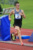 Jakub Holusa - 1500 metres race in Prague 2012. Jakub Holusa from Czech Republic  in the 1500 metres men race held within the 19th annual Josef Odlozil meeting Stock Images