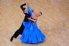 Jakub Necpal & Zuzana Borska - standard dancing Stock Photos