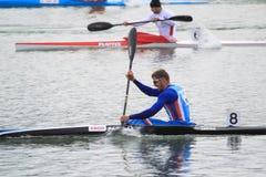 Jakub Spicar - kajakowy sprint Obraz Royalty Free