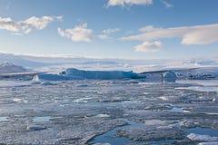 Jakulsarlon glaciers on the sunny day Stock Image