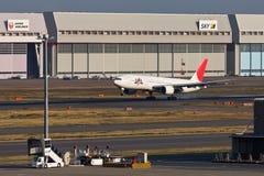 JAL着陆 免版税库存照片