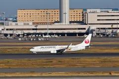 JAL à l'aéroport de HANEDA Image libre de droits