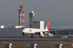 JAL bij HANEDA Luchthaven Stock Foto's
