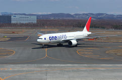 JAL Boeing 777 Photo stock