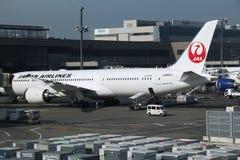 JAL de Japan Airlines fotos de archivo libres de regalías