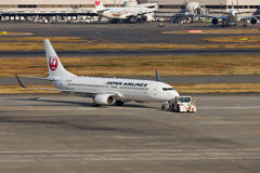 JAL at HANEDA Airport Royalty Free Stock Photography
