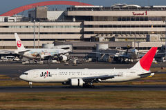 JAL at HANEDA Airport Stock Photo